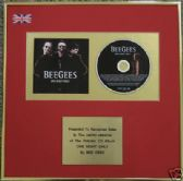 BEEGEES - CD Album Award - ONE NIGHT ONLY